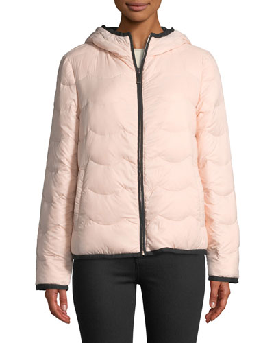 hooded & packable down jacket