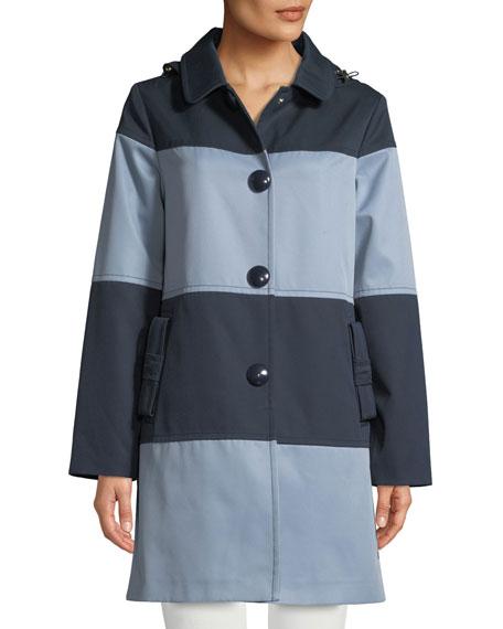kate spade new york rain mac colorblock jacket