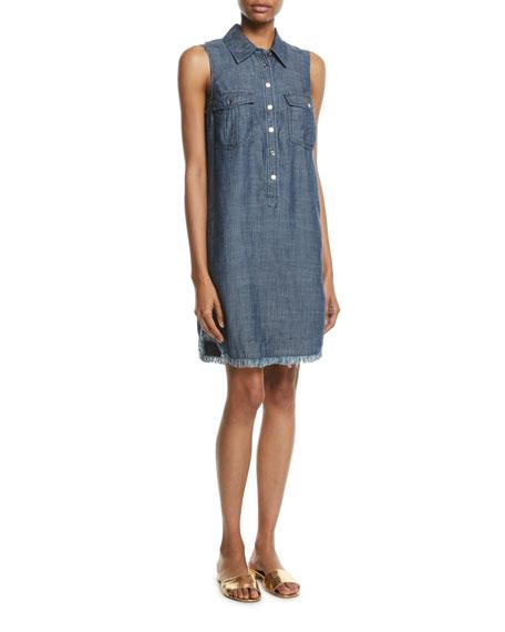 Rosetta 2 Sleeveless Chambray Shirt Dress w/ Pockets