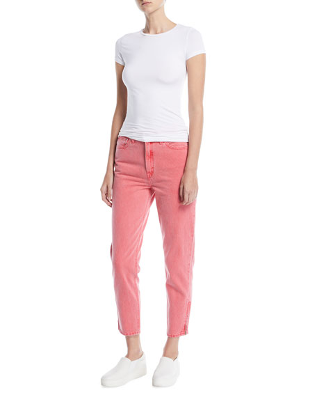 High-Waist Tapered-Leg Ankle-Length Mom Jeans