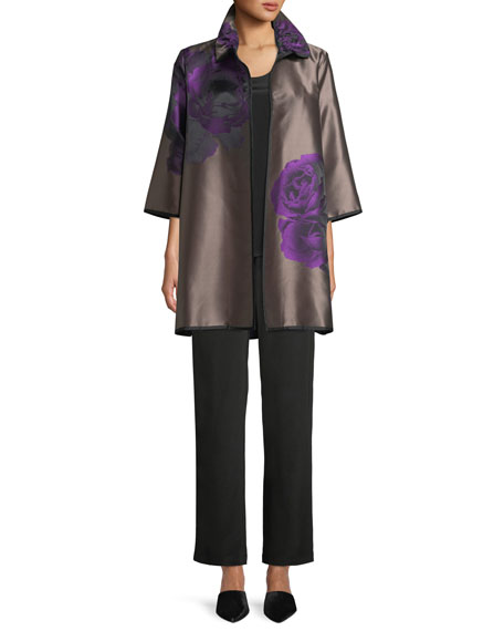 Violet Rose Jacquard Topper Jacket