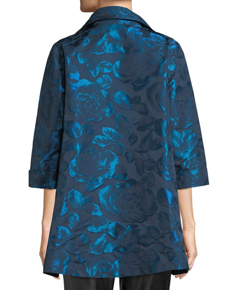 Blue Becomes You Floral Jacquard Party Jacket