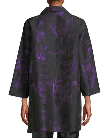 Moon Shadow Jacquard Open Shirt Jacket