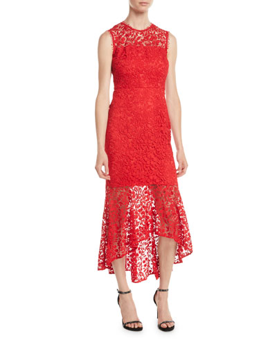 Lydia High-Low Lace Illusion Gown