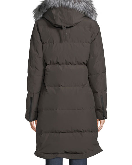 Salmon River Long Parka Coat w/ Removable Fur Hood