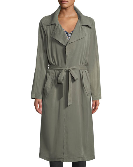 Rachel Pally Self-Belt Garment-Dye Twill Trench Coat and