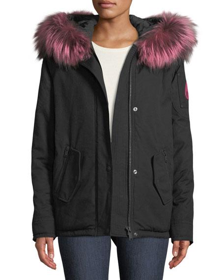 Kingscroft Parka Jacket w/ Fur Trim & Hood