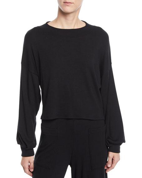 RACHEL PALLY Luxe Rib Sweatshirt Top in Black