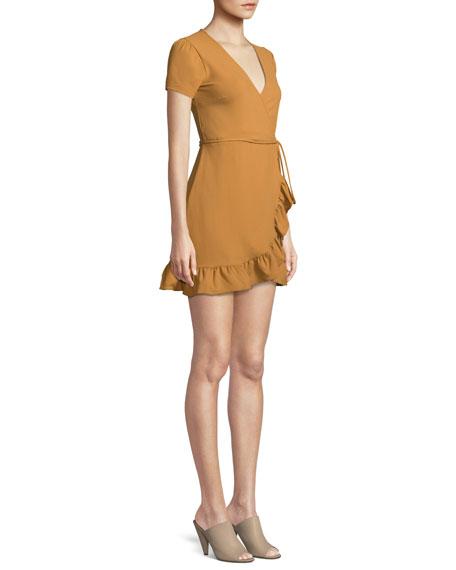 Madison Wrap Dress w/ Ruffle Hem