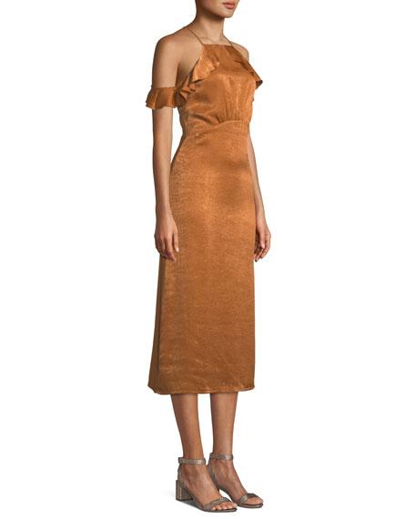 Alianna Sleeveless A-Line Midi Cocktail Dress