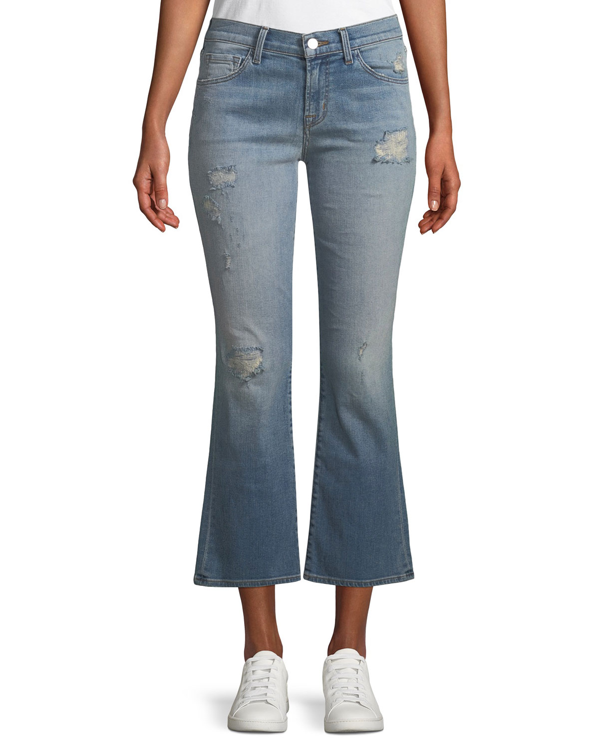 e1be0fcecf60d J Brand Selena Distressed Cropped Boot-Cut Jeans