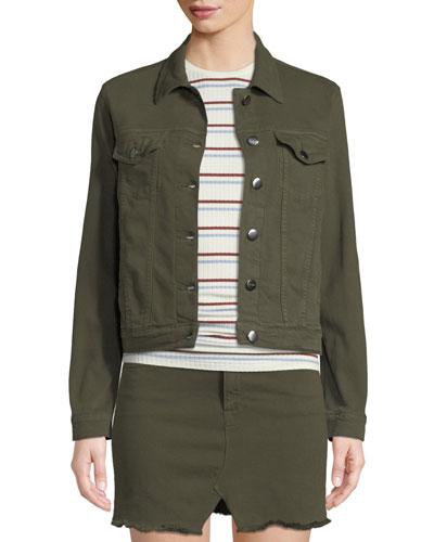 Le Vintage Button-Front Denim Jacket