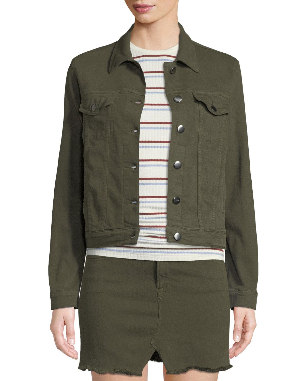 e745564edc9 FRAME Le Vintage Button-Front Denim Jacket