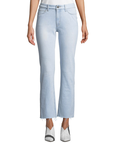 M.i.h Jeans DAILY HIGH-RISE STRAIGHT-LEG FRAYED JEANS