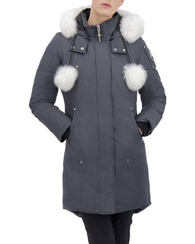 Stirling Parka w/ Detachable Hood & Fur Trim