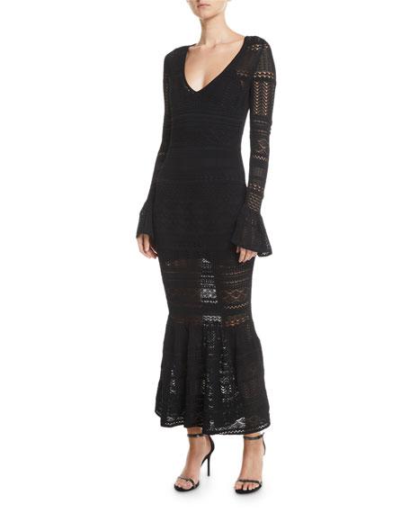 Alexis Darcie Crochet Long-Sleeve Mermaid Dress