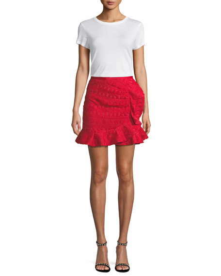 Lace Frill Mini Skirt