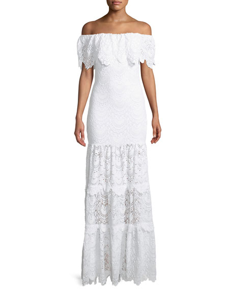 Nightcap Clothing Spanish Lace Positano Off-the-Shoulder Maxi