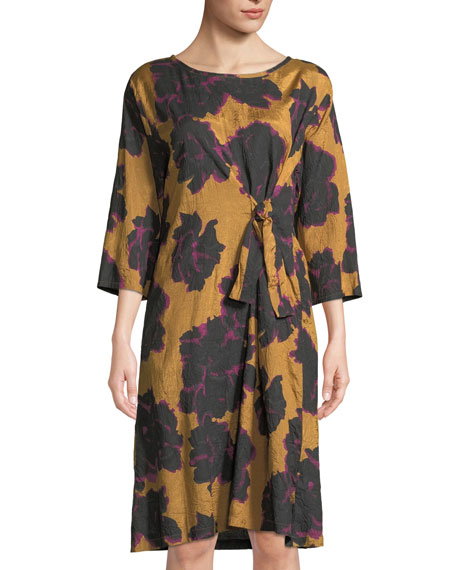 Masai Nonie Easy Floral-Print Dress with Tie