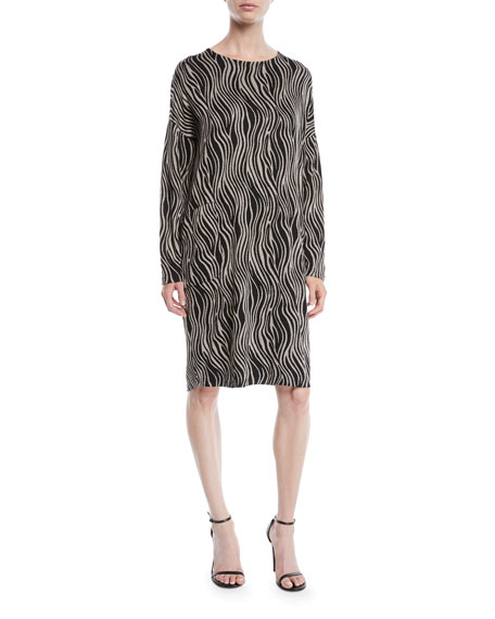 Nolene Zebra Jacquard Dress