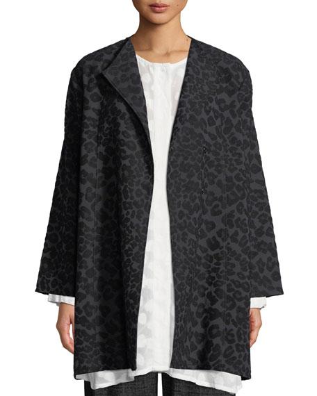 MASAI Josea Leopard-Pattern Jacket in Black