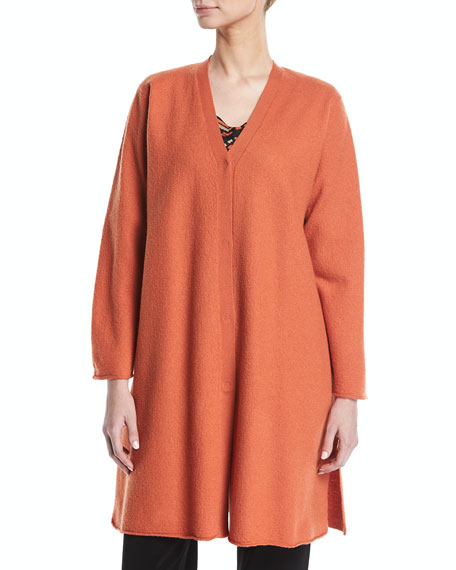 Lora Long Merino Wool Cardigan