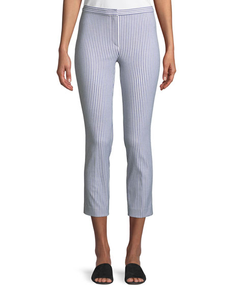 Classic Sayre Stripe Skinny Ankle Pants