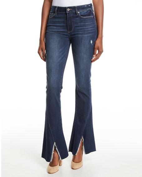 PAIGE Lou Lou High-Rise Flare Split-Hem Jeans