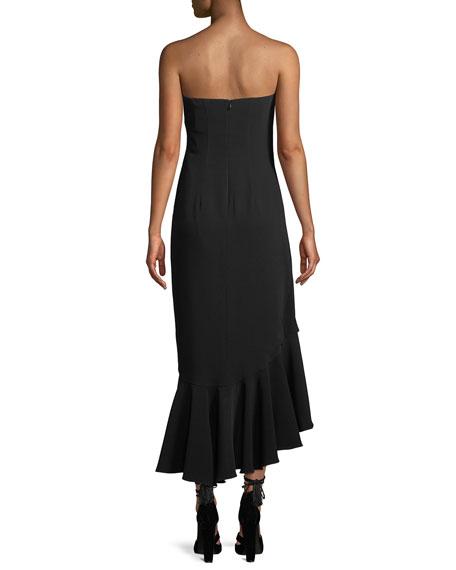 Gramercy Strapless Flounce Cocktail Dress