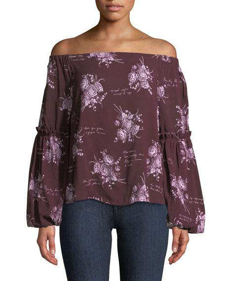 Amelie Off-the-Shoulder Floral Blouse