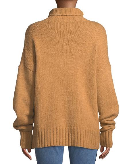 Rhea Lace-Up Wool-Blend Sweater