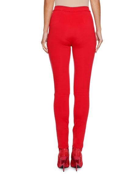 Lace-Up Skinny Side-Stripe Track Pants
