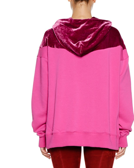 Hooded Colorblock Pullover Sweater