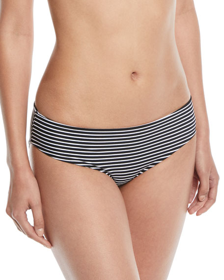 Cruz Bay Low-Rise Hipster Solid Swim Bikini Bottoms