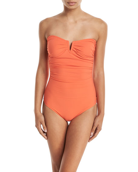Les Essentiels Bandeau Notched One-Piece Swimsuit