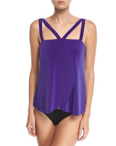 Michelle Solid Tankini Swim Top