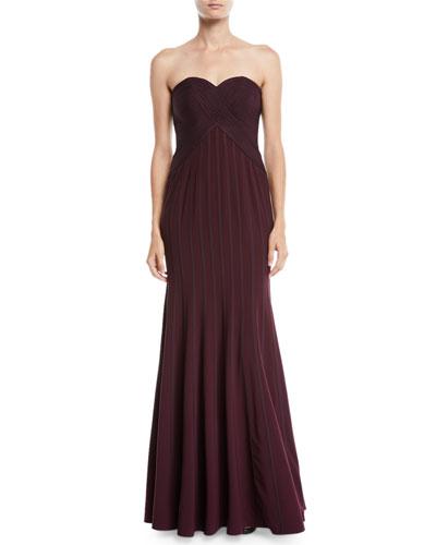 766b62e4971c Strapless Flowy Gown w  Satin Strips
