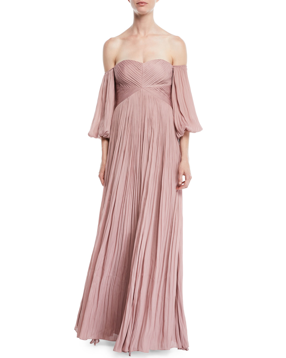Pleated Halston The Marcus Off GownNeiman Heritage Shoulder BeCxod