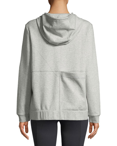 College Hooded Boucle-Logo Jersey Sweatshirt