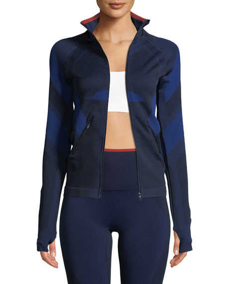 Spright Zip-Front Fitted Paneled Performance Jacket