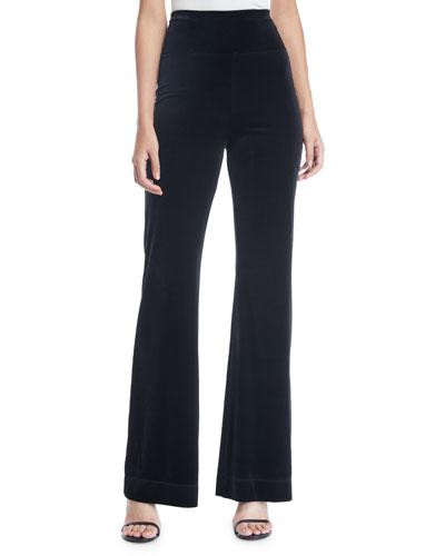 Alene Velvet Wide-Leg Pants