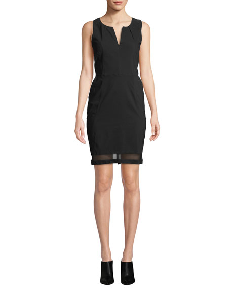 Anatomie Michelle Slim-Fit Sleeveless Dress w/ Mesh Inserts