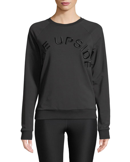 The Upside Sid Fleece Black On Black Logo