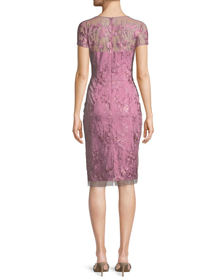 Strapless Illusion Dress w/ Embroidery