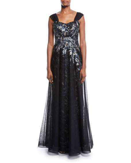 Rickie Freeman for Teri Jon Sleeveless Sequin Tulle