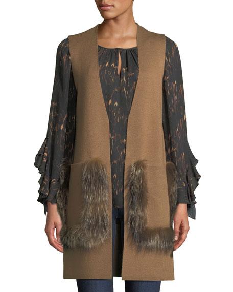 Kobi Halperin Lee Ruffle-Sleeve Blouse in Silk and