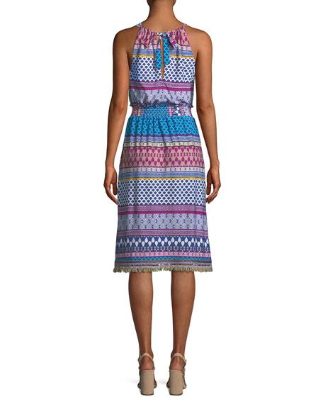 Brooke Midi Dress w/ Halter Neck