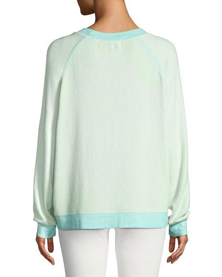 Be Happy Graphic Raglan Sweatshirt