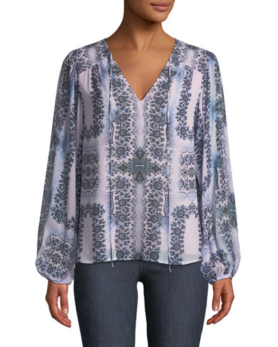 Exhale Long-Sleeve Blouse