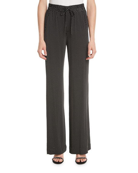 Nanette Lepore Pure Dot Jersey Pull-On Pants
